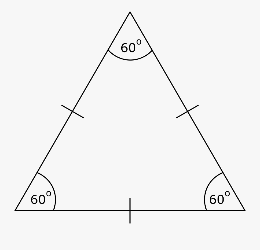 Equilateral Triangle Clip Arts - Drawing Of Equilateral Triangle, Transparent Clipart