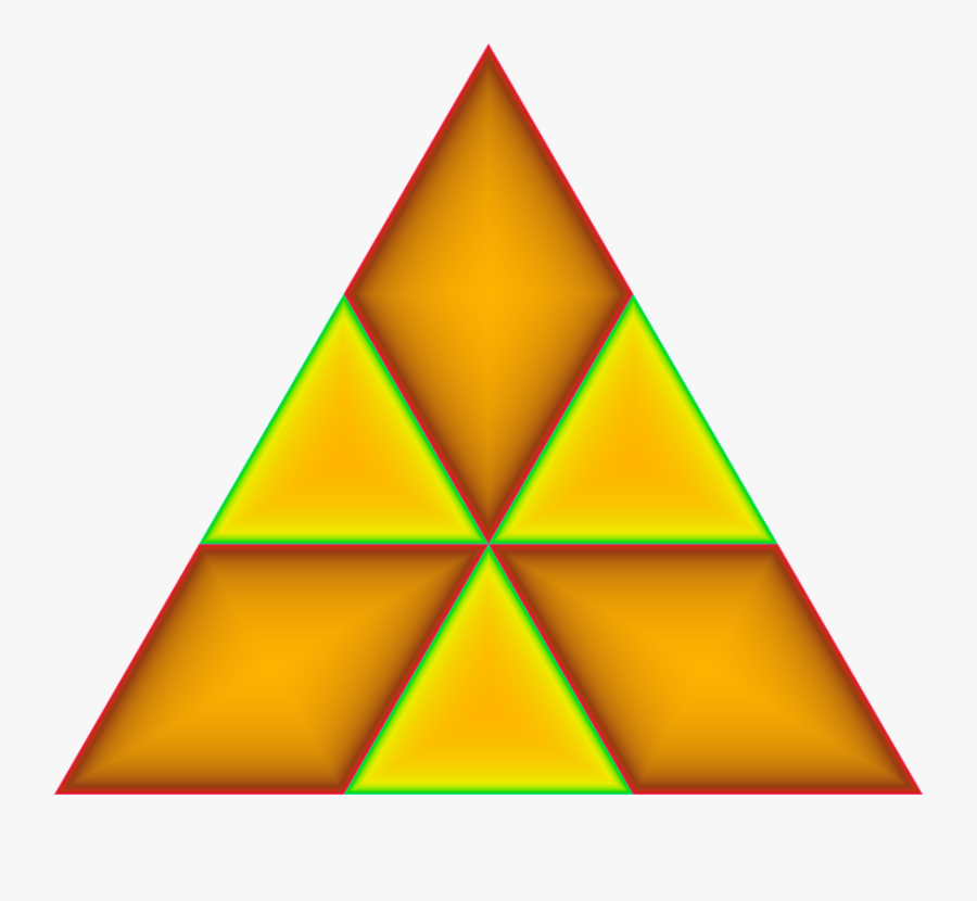 Angle,symmetry,yellow - Triangle, Transparent Clipart