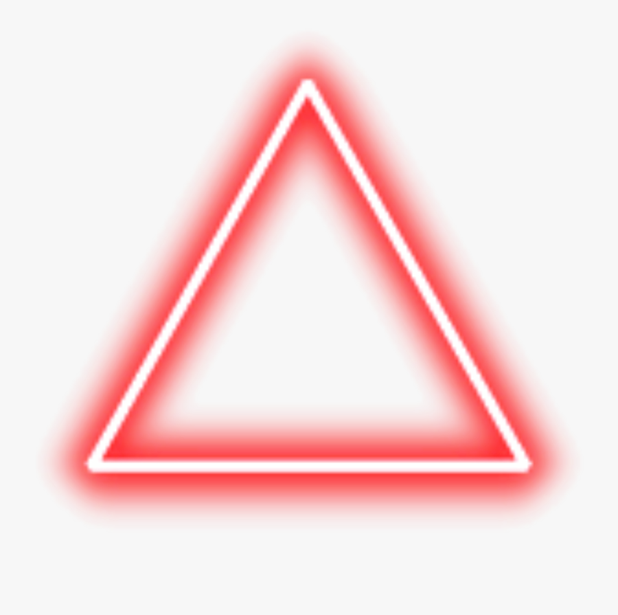 Transparent Red Triangle Clipart - Red Neon Triangle Png , Free Transparent  Clipart - ClipartKey