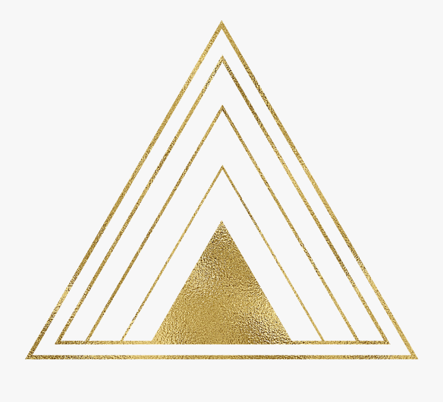 #gold #golden #triangle #triangles #triangleart #geometric - Gold Triangle Geometric Png, Transparent Clipart