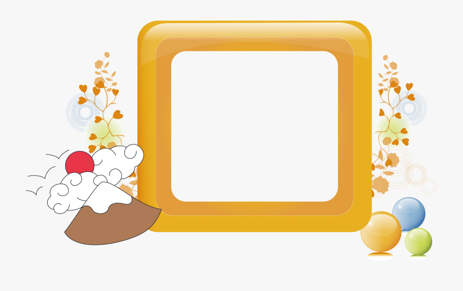Square Vector Japanese Border - Graphic Design, Transparent Clipart