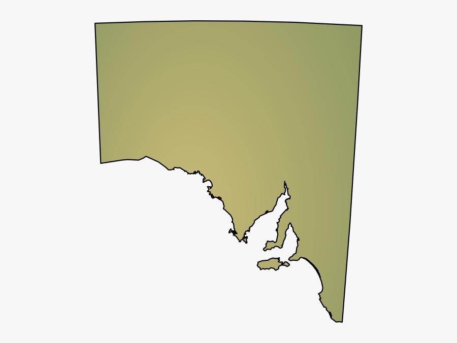 South Australia Map Outline, Transparent Clipart