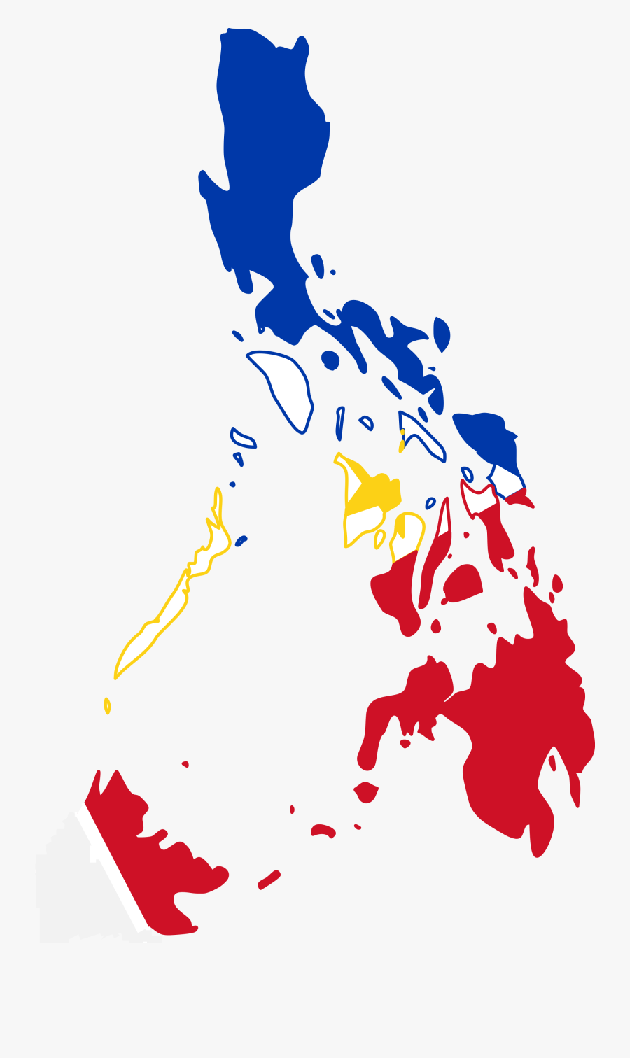28 Collection Of Philippine Map Clipart Png - Flag Map Of The Philippines, Transparent Clipart