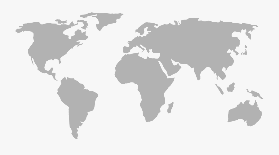 World Map Clipart Png - Blank Map Of The World 1914, Transparent Clipart
