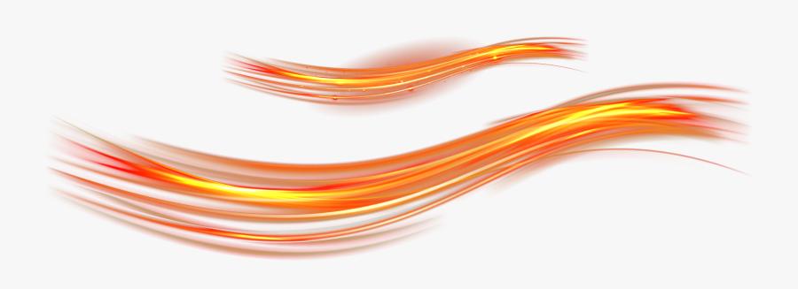 Close-up Font Angle Light Feeling Cool Clipart - Orange Light Line Png, Transparent Clipart