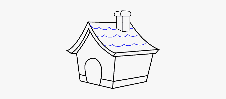 Vector Stock How To Draw A - House With Chimney Drawing, Transparent Clipart