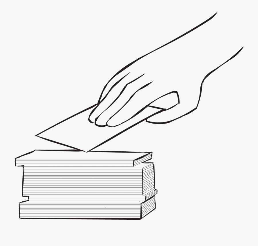 Hand Picking Up An Index Card, As Featured In Fun Large, Transparent Clipart