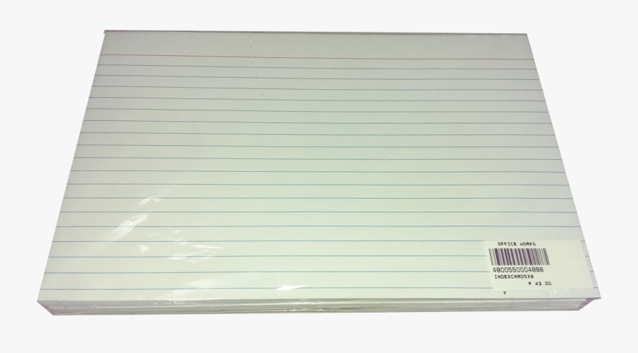 Index Card White 50 Sheets - 1 Whole Index Card Size, Transparent Clipart