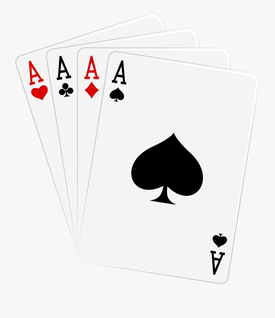 Four Aces Cards Png Clipart - Four Aces Cards, Transparent Clipart