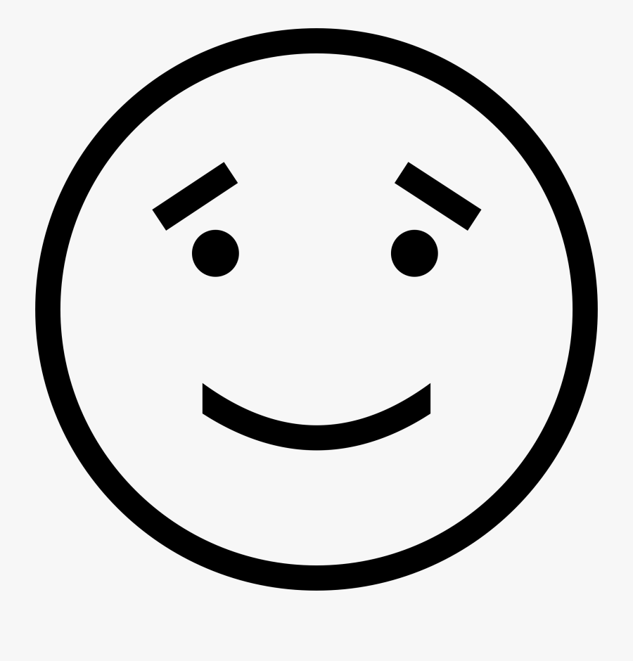 Sincere Big Image - Emoji Face Drawing, Transparent Clipart