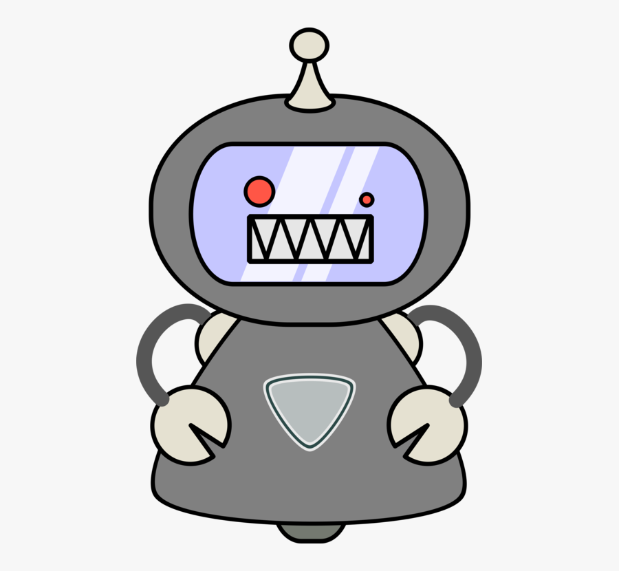 Line Art,small Appliance,cartoon - Evil Robot Png Cartoon, Transparent Clipart