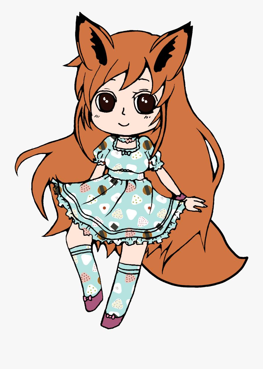 Girl Fox Drawing Draw Freetoedit Anime Animegirl Line - Anime Animal Girls Drawing, Transparent Clipart
