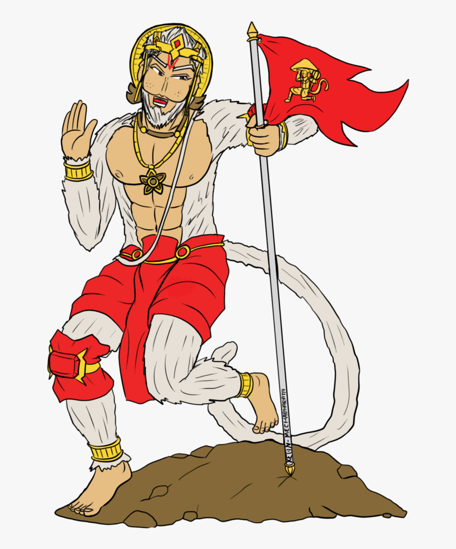 Transparent Hanuman Png - Valmiki Flag Out, Transparent Clipart