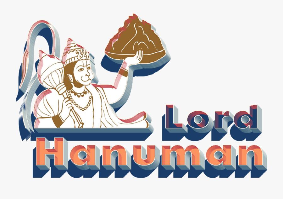 Lord Hanuman 3d Letter Png - Digital Illustration Of Hanuman Carrying The Mountain, Transparent Clipart