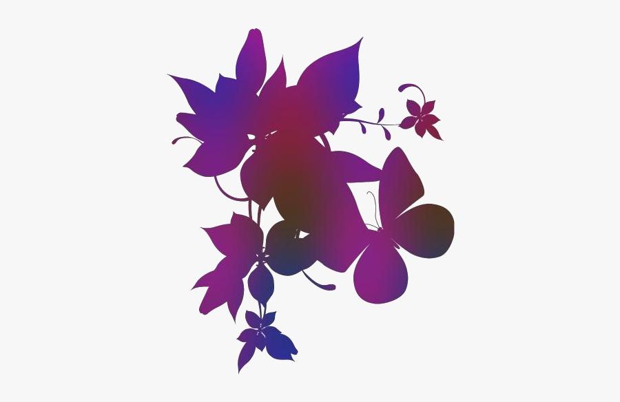 Border Png Transparent Images - Transparent Butterflies Flowers Clipart, Transparent Clipart