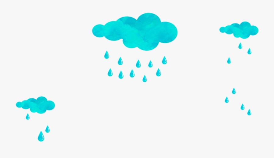 #ftestickers #clipart #clouds #rain #blueclouds #cute - Clouds And Rain Diagram, Transparent Clipart