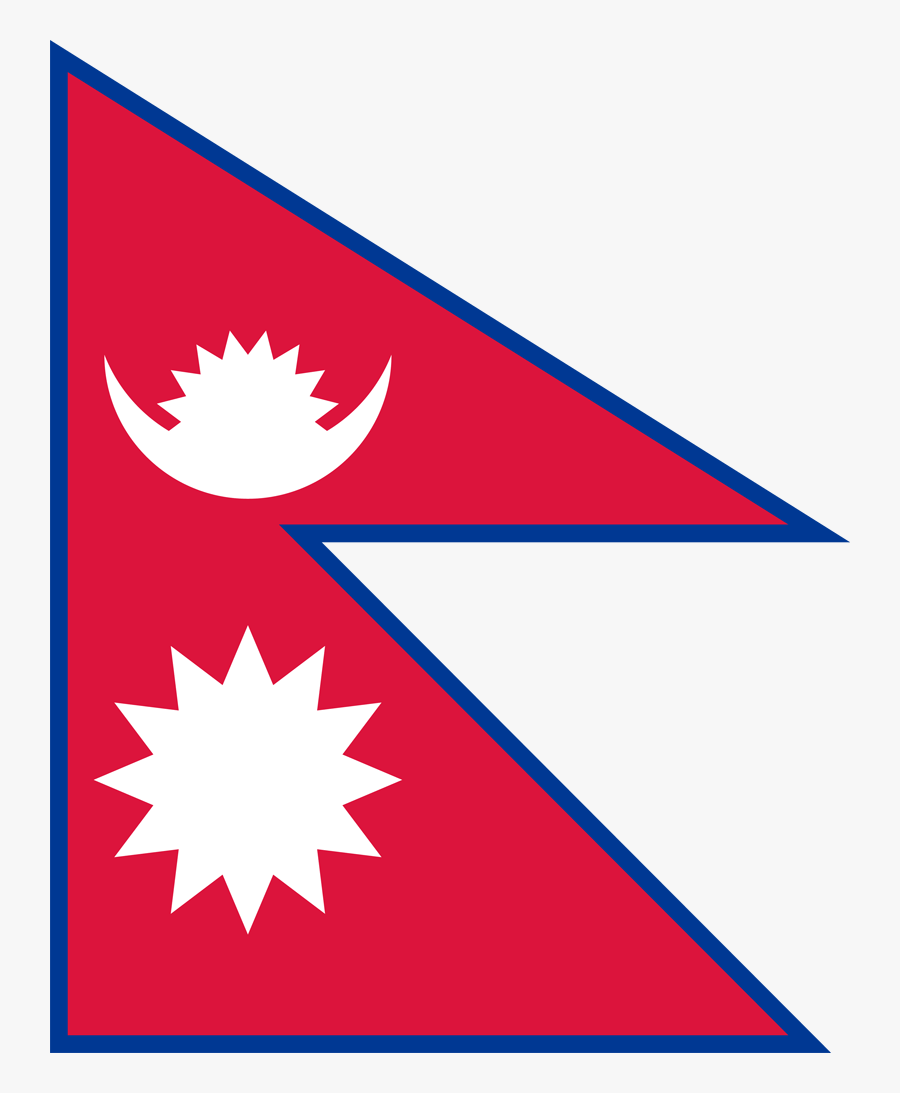 Flag Of Nepal, Transparent Clipart