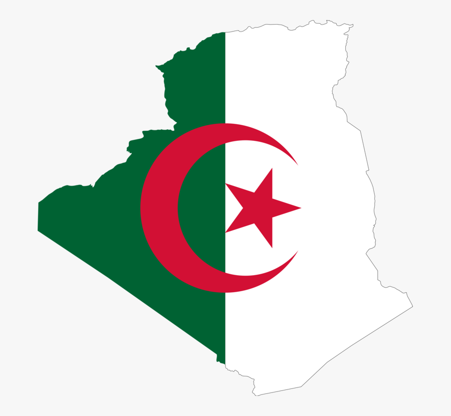Algeria, Arab, Borders, Country, Flag, Map, Middle - Algeria Flag Country, Transparent Clipart