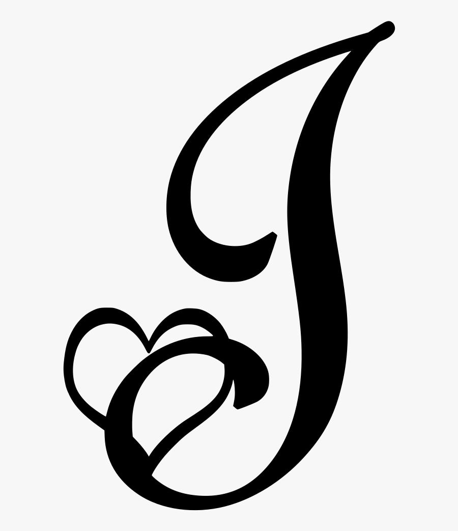 Valentine Capital Letter , Png Download - J Letter, Transparent Clipart