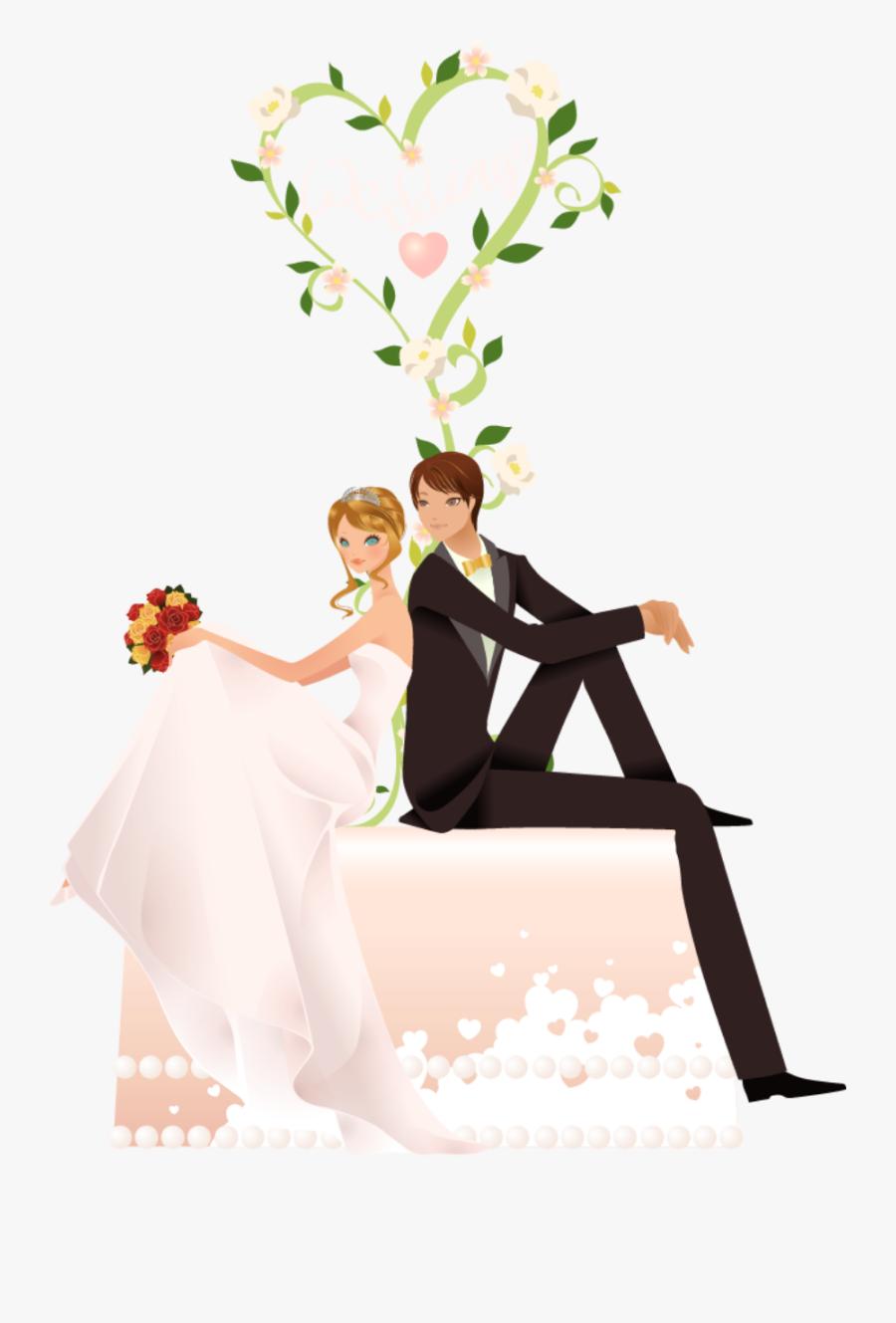 #wedding #couple #bride #love #feeling #feels #sitting - Wish U Happy Marriage Life, Transparent Clipart