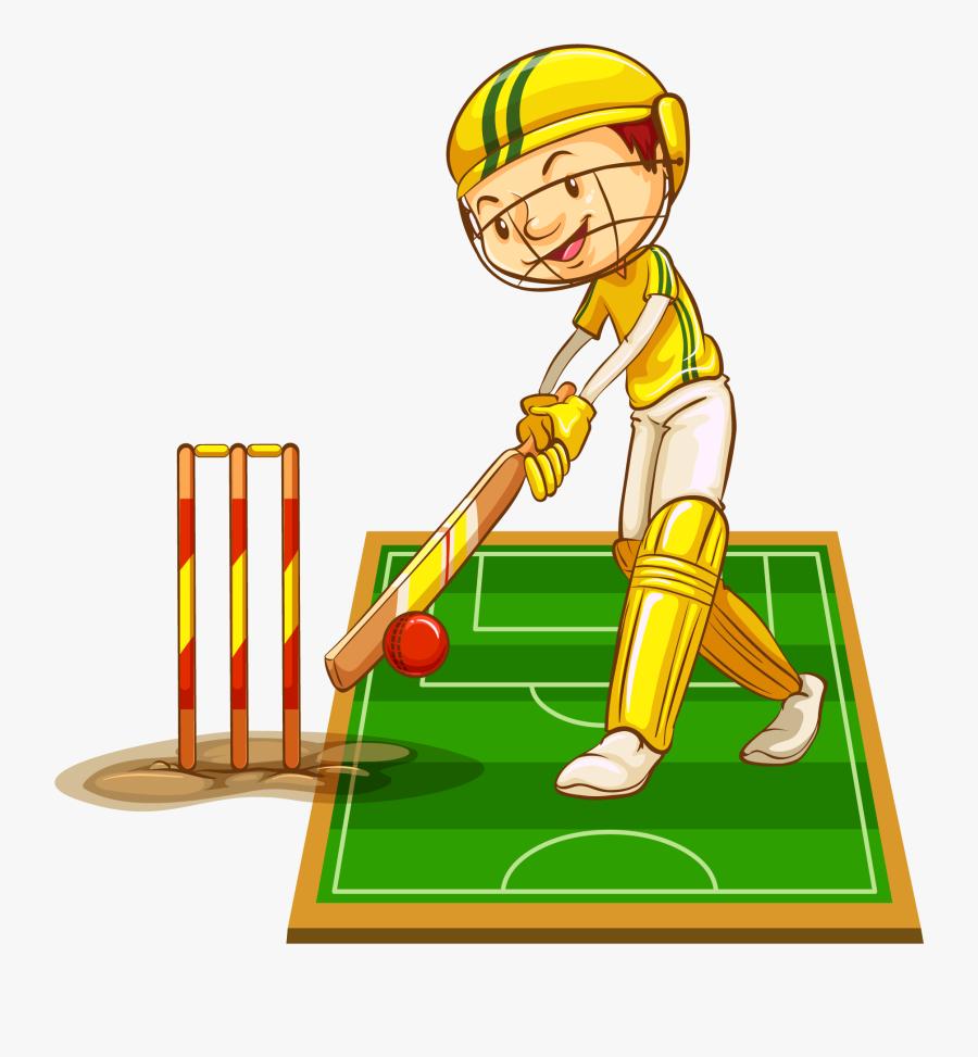 Transparent Cricket Ball Clipart - Man Playing Cricket, Transparent Clipart