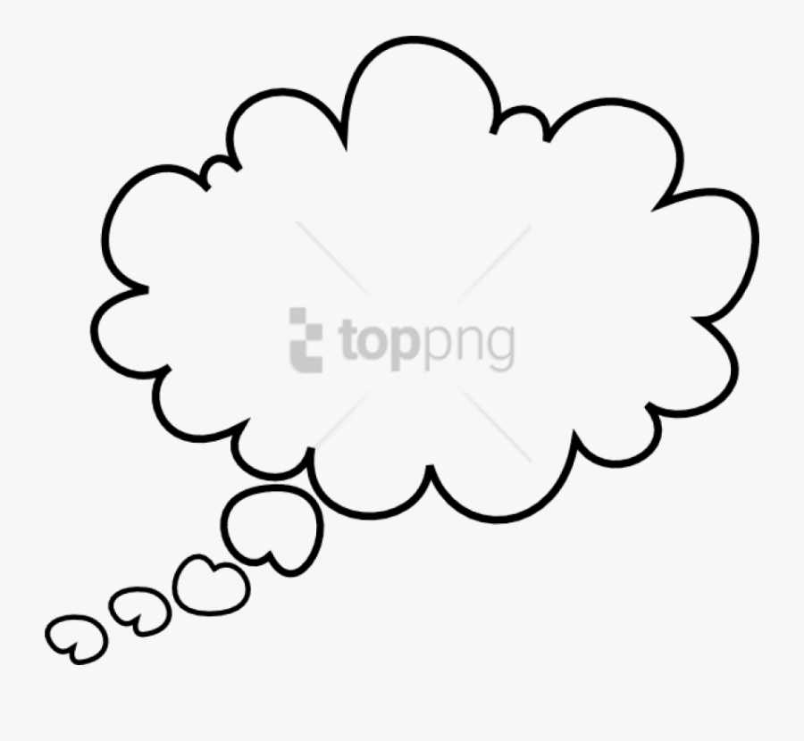 Think Bubble Clipart Black And White, Transparent Clipart