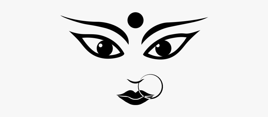"""Durga Rubber Stamp""""  Class=""""lazyload Lazyload Mirage - Maa Durga Face Png, Transparent Clipart"""