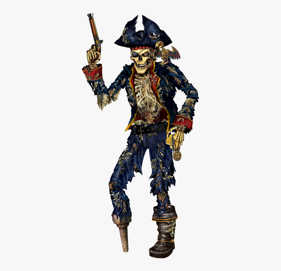 Skeleton Skull Piracy Joint Party Pirate Clipart - Pirate Skeleton, Transparent Clipart