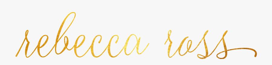 Rebecca In Fancy Writing, Transparent Clipart