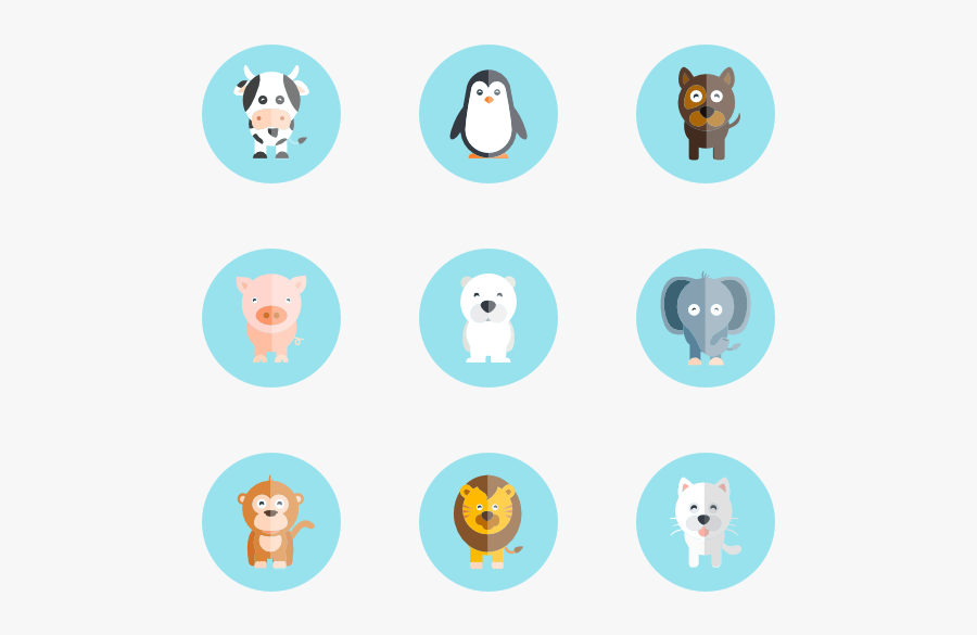 Cute Animal Compilation - Cute Animal Icon Png, Transparent Clipart