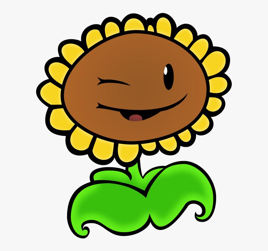 Sunflower Png Pvz - Sunflower Plants Vs Zombies Png, Transparent Clipart
