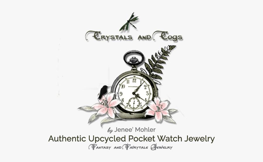 Crystals And Cogs - Quartz Clock, Transparent Clipart