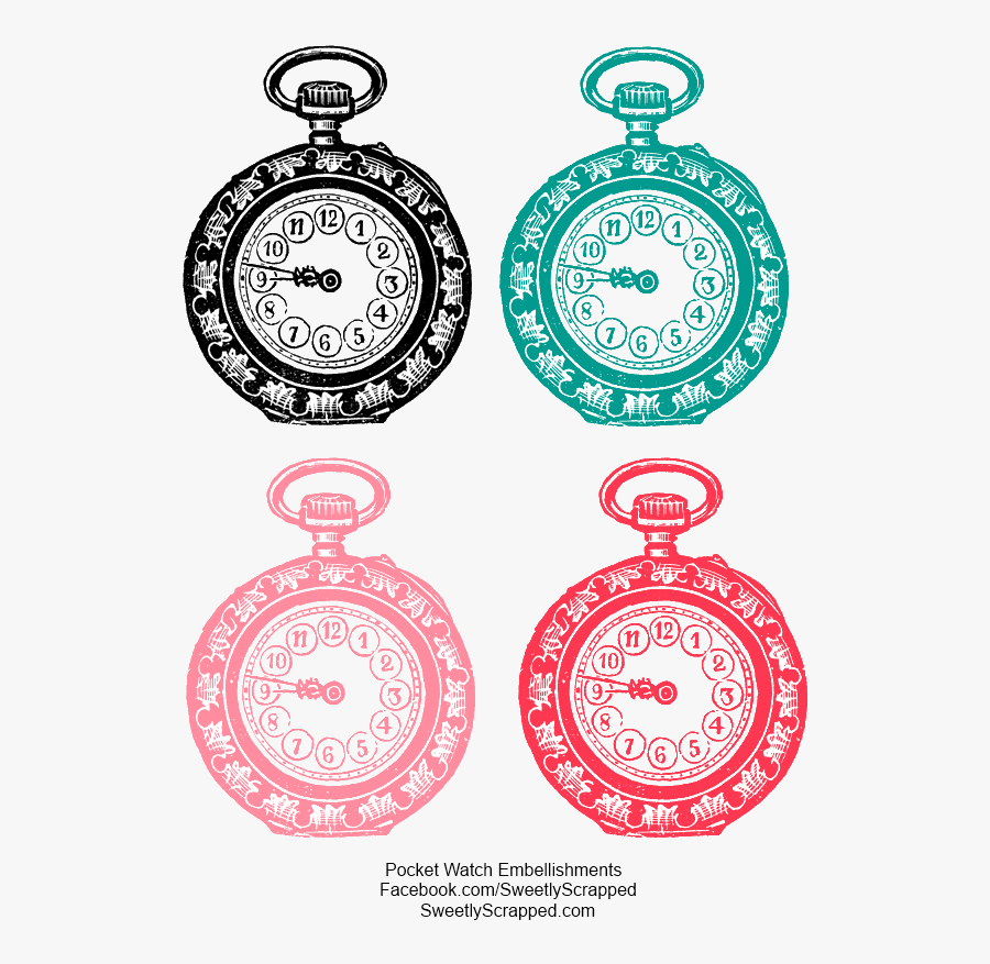 Printable Alice In Wonderland Clocks, Transparent Clipart
