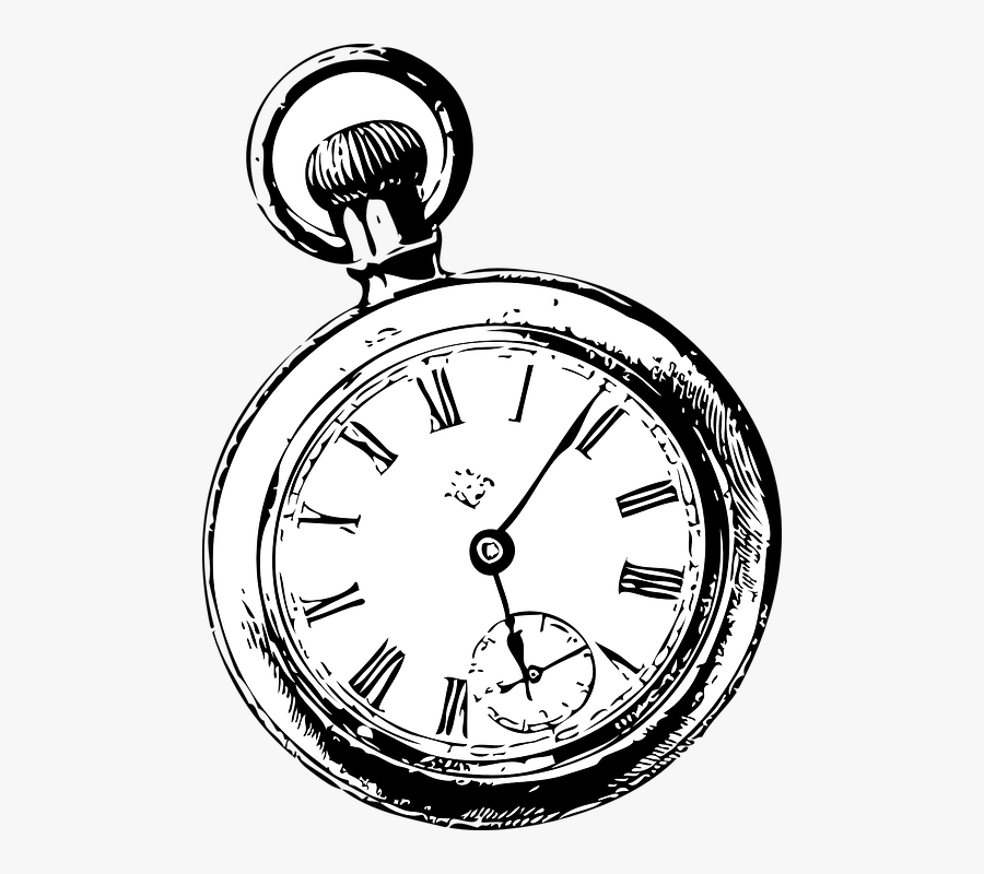 Clip Art Afbeeldingsresultaat Voor Klok Alice - Drawing Of A Pocket Watch, Transparent Clipart