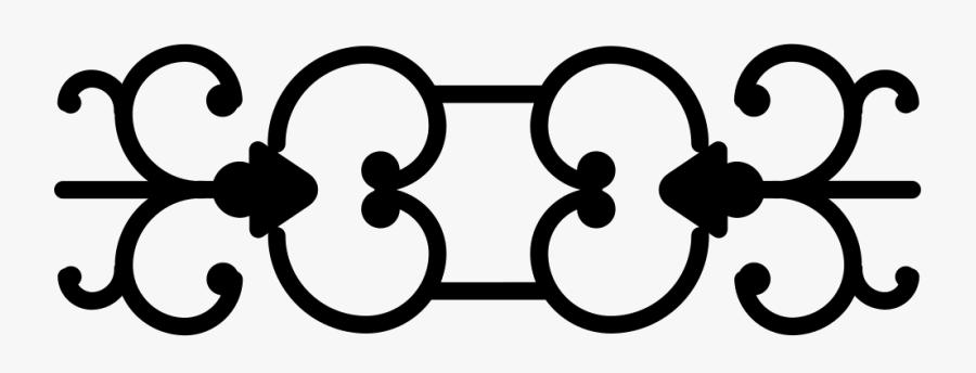 Curl Line Border Free Vintage Horizontal Curved - Horizontal Line Border Design, Transparent Clipart