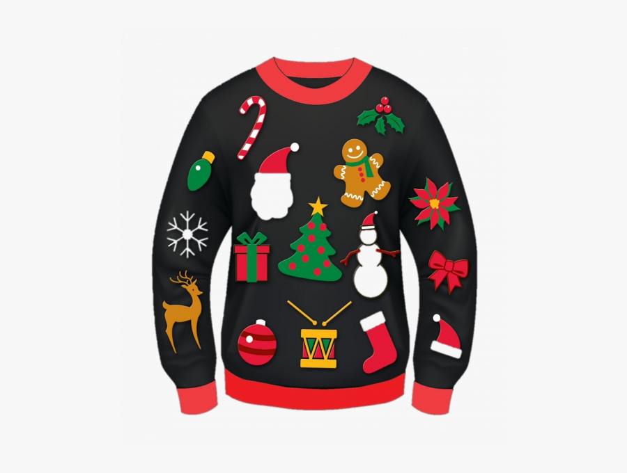 Don Your Ugliest Christmas Sweater To Shop Downtown - Ugly Sweater Clipart Png, Transparent Clipart