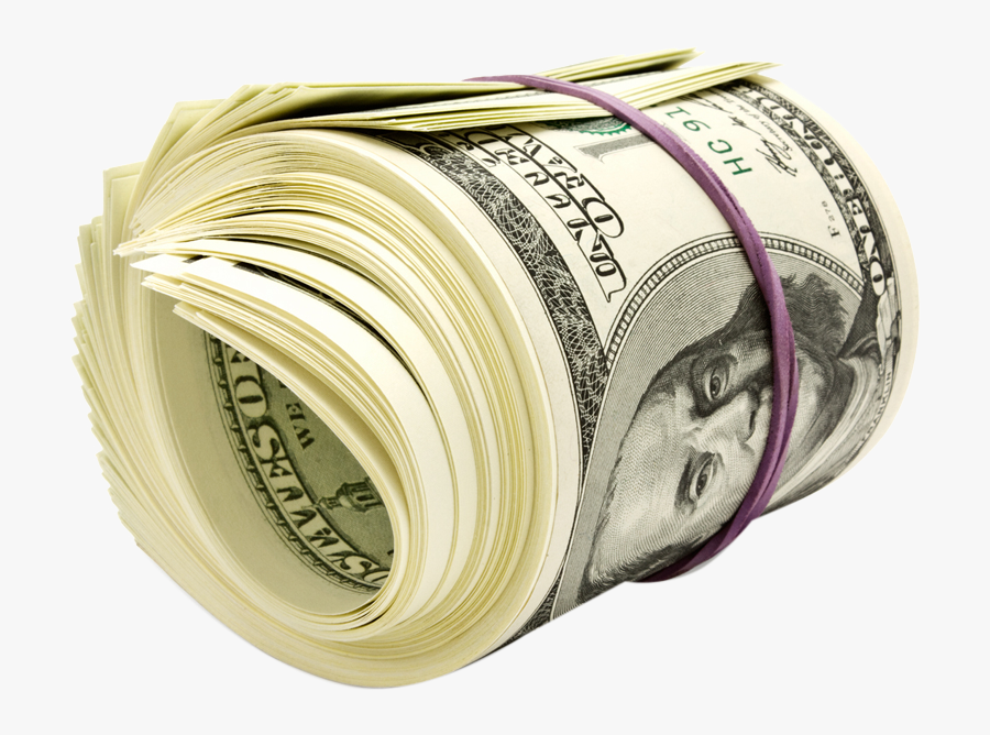 United Money Bill Dollar One States Hundred-dollar - Roll Of Money Png, Transparent Clipart