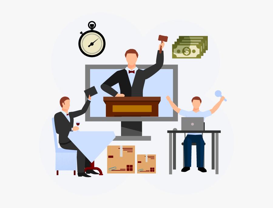 Online Auction Bidding Software - Fundraising Charity Auction, Transparent Clipart