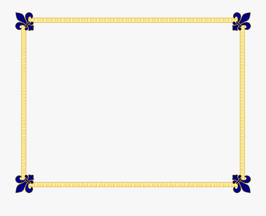 Best Dressed Borders Templates Border Template For - Template Design For Certificate Border, Transparent Clipart