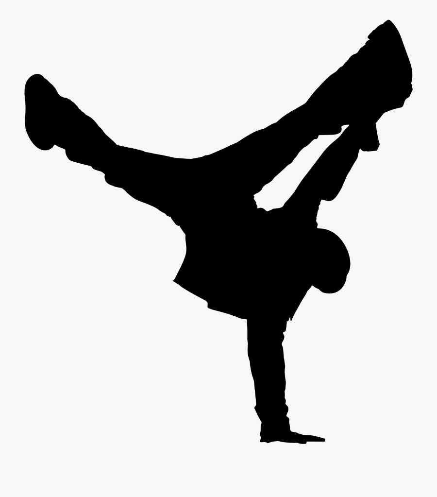 Gymnastics Handstand Silhouette, Transparent Clipart