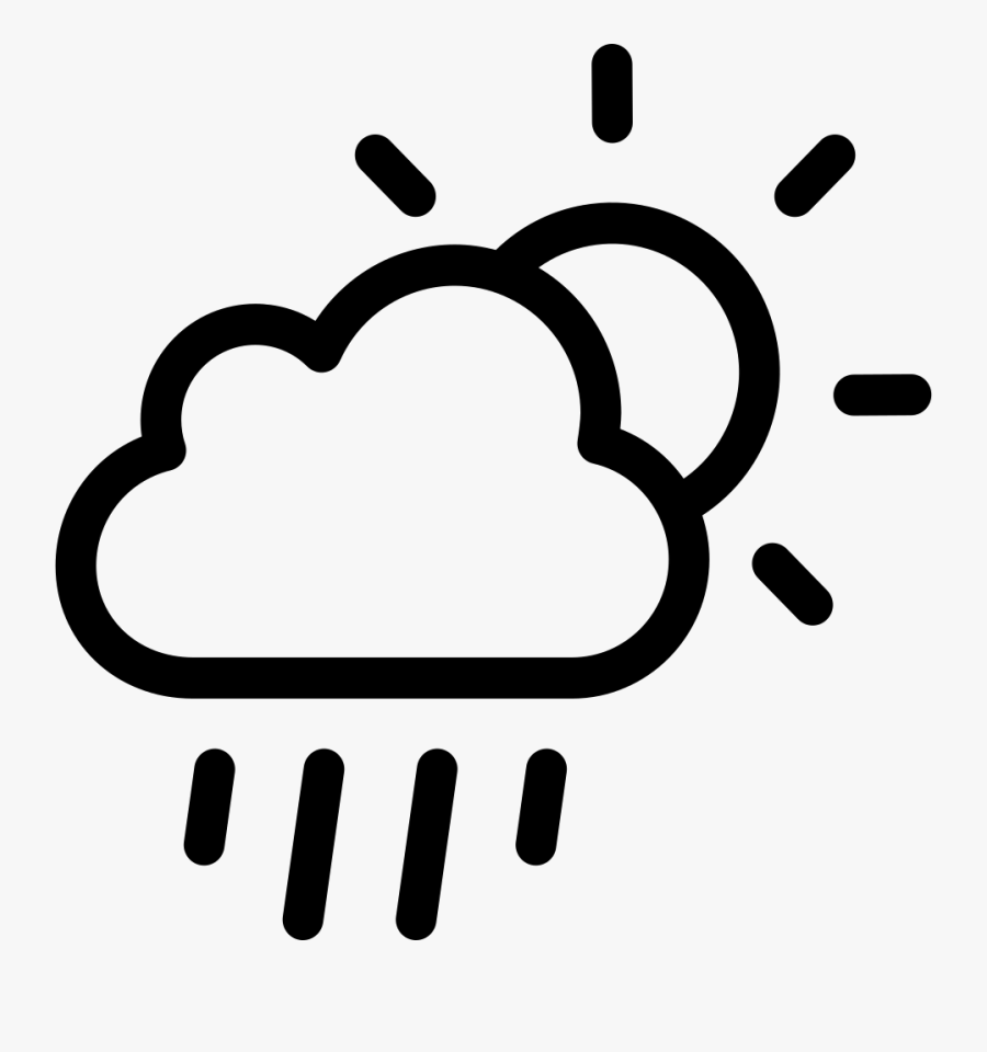 Rainy Day - Icon Weather Cloud, Transparent Clipart