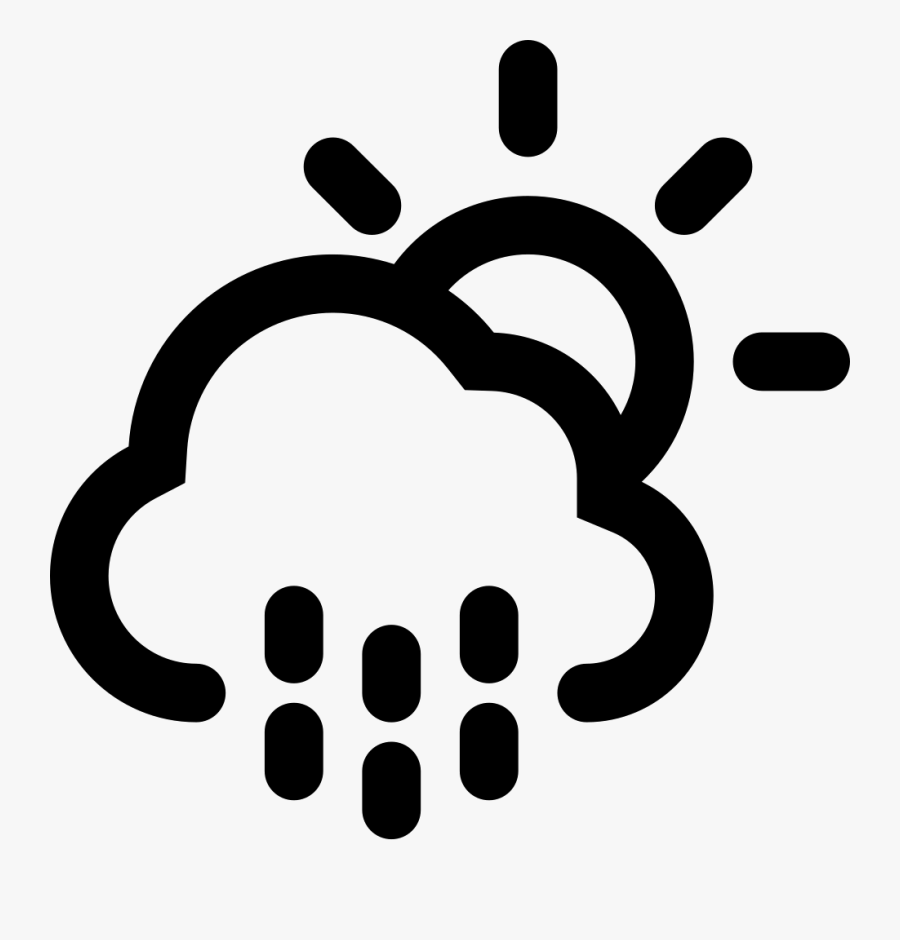 Rainy Day Weather Symbol - Cloud Sun Snow Icon, Transparent Clipart