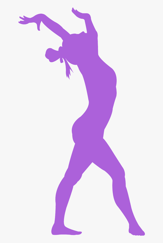 Gymnastics Silhouette Color, Transparent Clipart