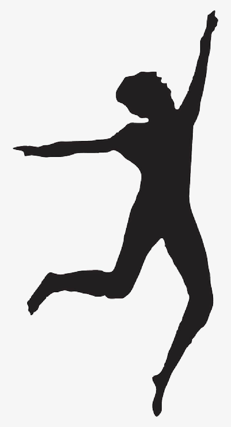 Silueta De Persona Danzando, Transparent Clipart
