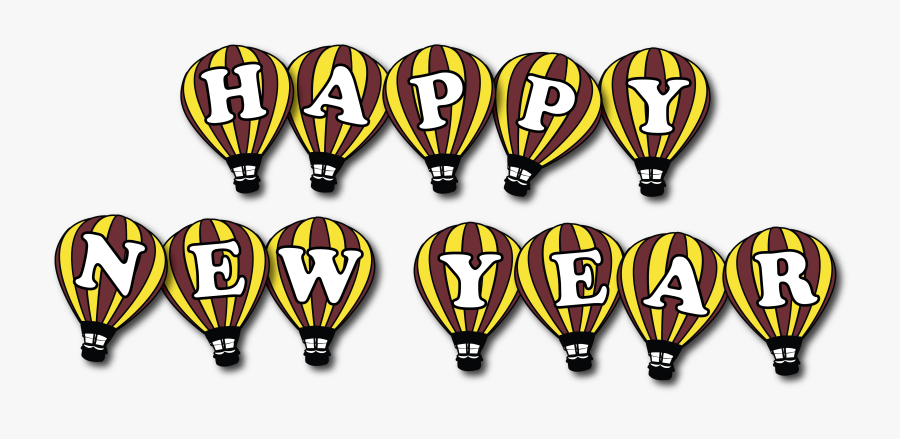 New Year Party Png Logo, Transparent Clipart