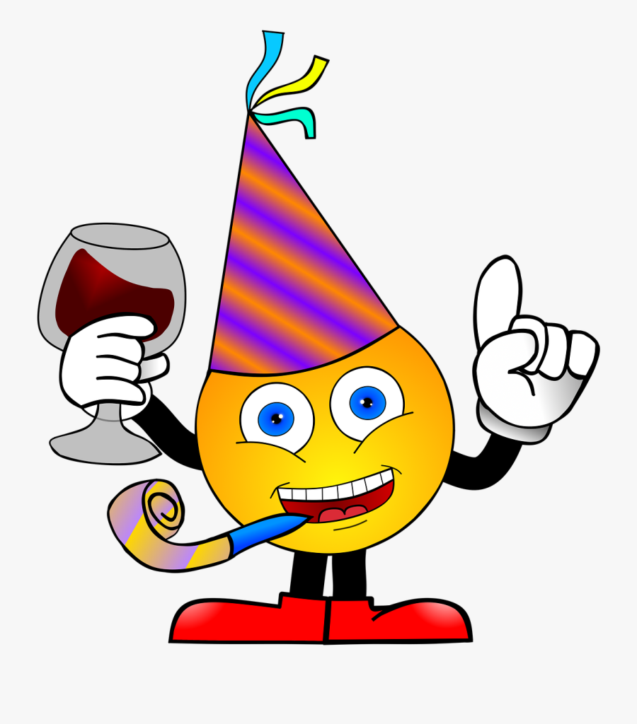 Smiley Party Anniversary Free Picture - Funny Happy Independence Day, Transparent Clipart