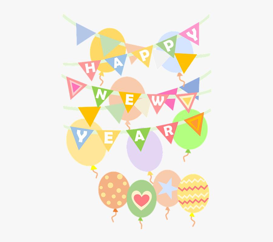 Happy New Year, New Year, Celebrate, Celebration, Happy - Illustration, Transparent Clipart