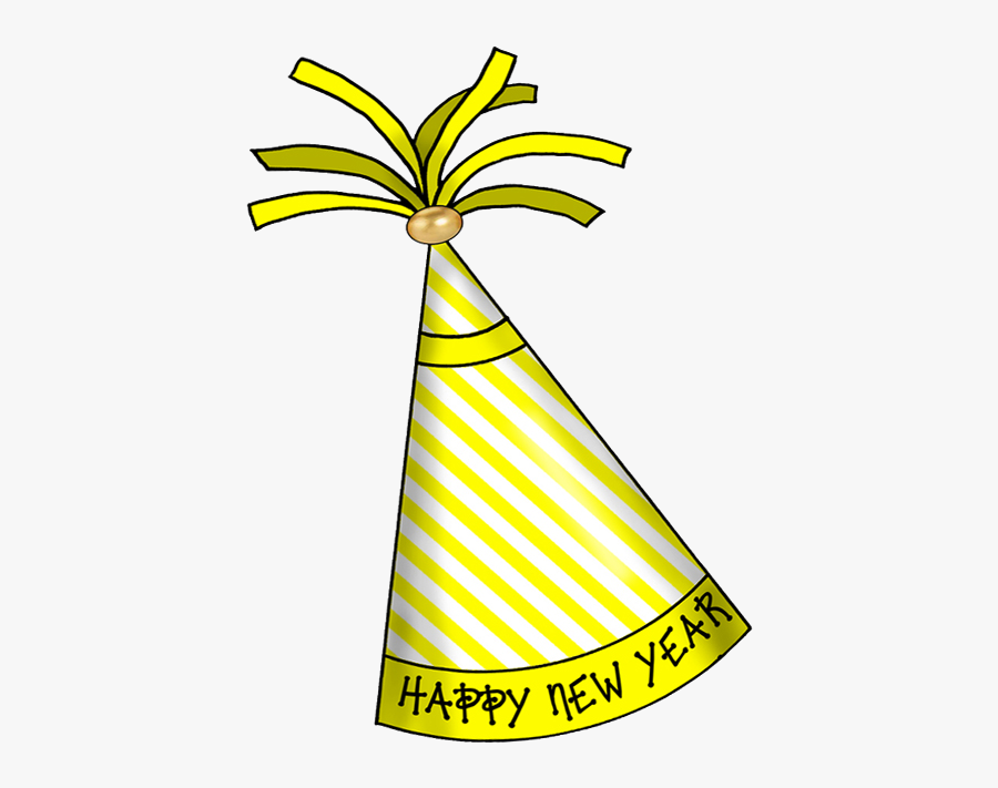 Party Hat New Year Hats Transparent Png - Happy New Year Hat Clipart, Transparent Clipart