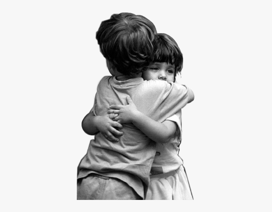#hugs #hugyou #brother #sister #friends #children #childhood - Baby Happy Hug Day, Transparent Clipart