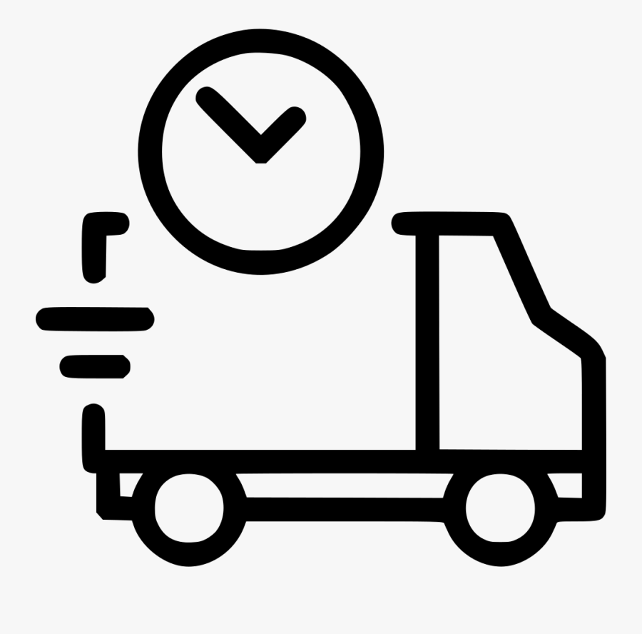 Motor Vehicle,mode Of Transport,transport,clip Book,line - Fast Delivery Icon Png, Transparent Clipart